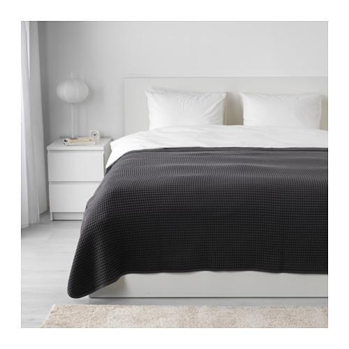 Покрывало, темно-серый, 230x250 см IKEA VÅRELD 603.464.47