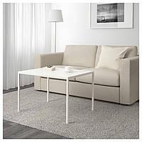 Кофейный столик с двусторонней столешницей IKEA NYBODA 75x60x50 см белый серый 403.426.38