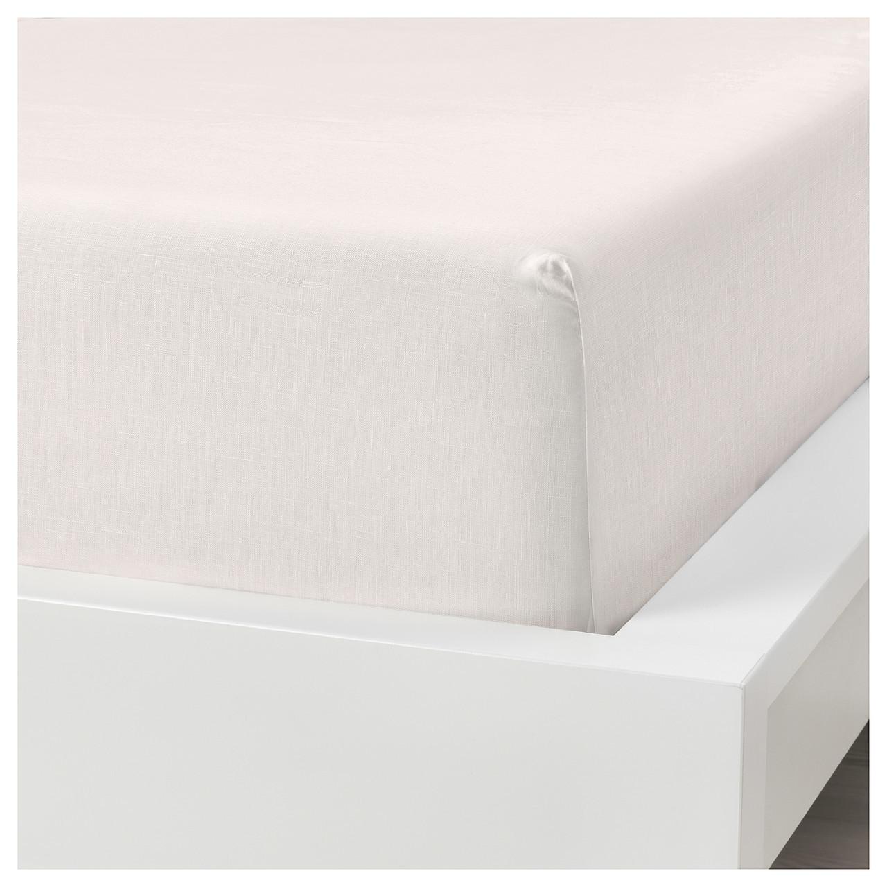 Простыня на резинке IKEA PUDERVIVA 160х200 см белая 903.984.68