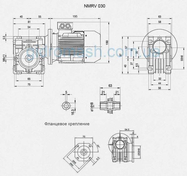 Фланец крепежный NMRV 030