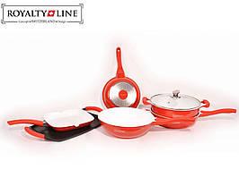 Набір посуду керамічне покриття Royalty Line RL - BS1009C (9 предметів) 4 сковороди