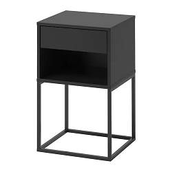 Тумба прикроватная IKEA VIKHAMMER 40x39 см черная 203.889.72
