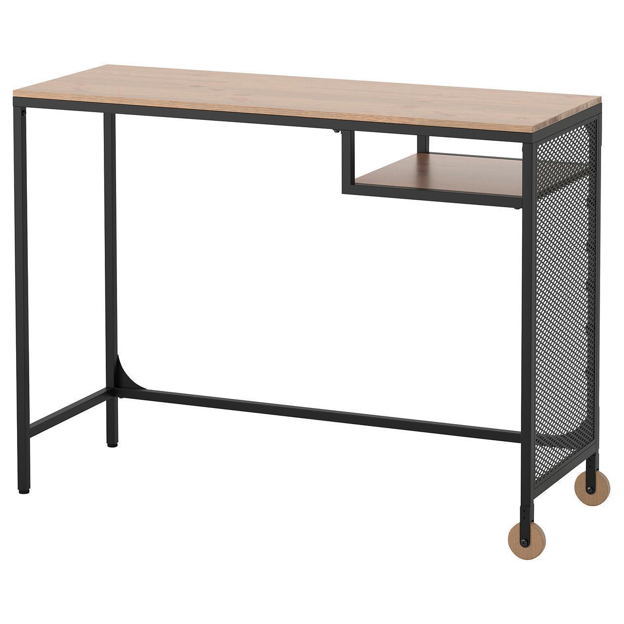 Столик для ноутбука IKEA FJÄLLBO 100x36 см черный 303.397.35