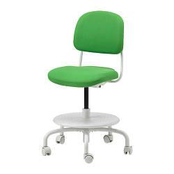 Детский стул IKEA VIMUND для письменного стола ярко-зеленый 503.086.67