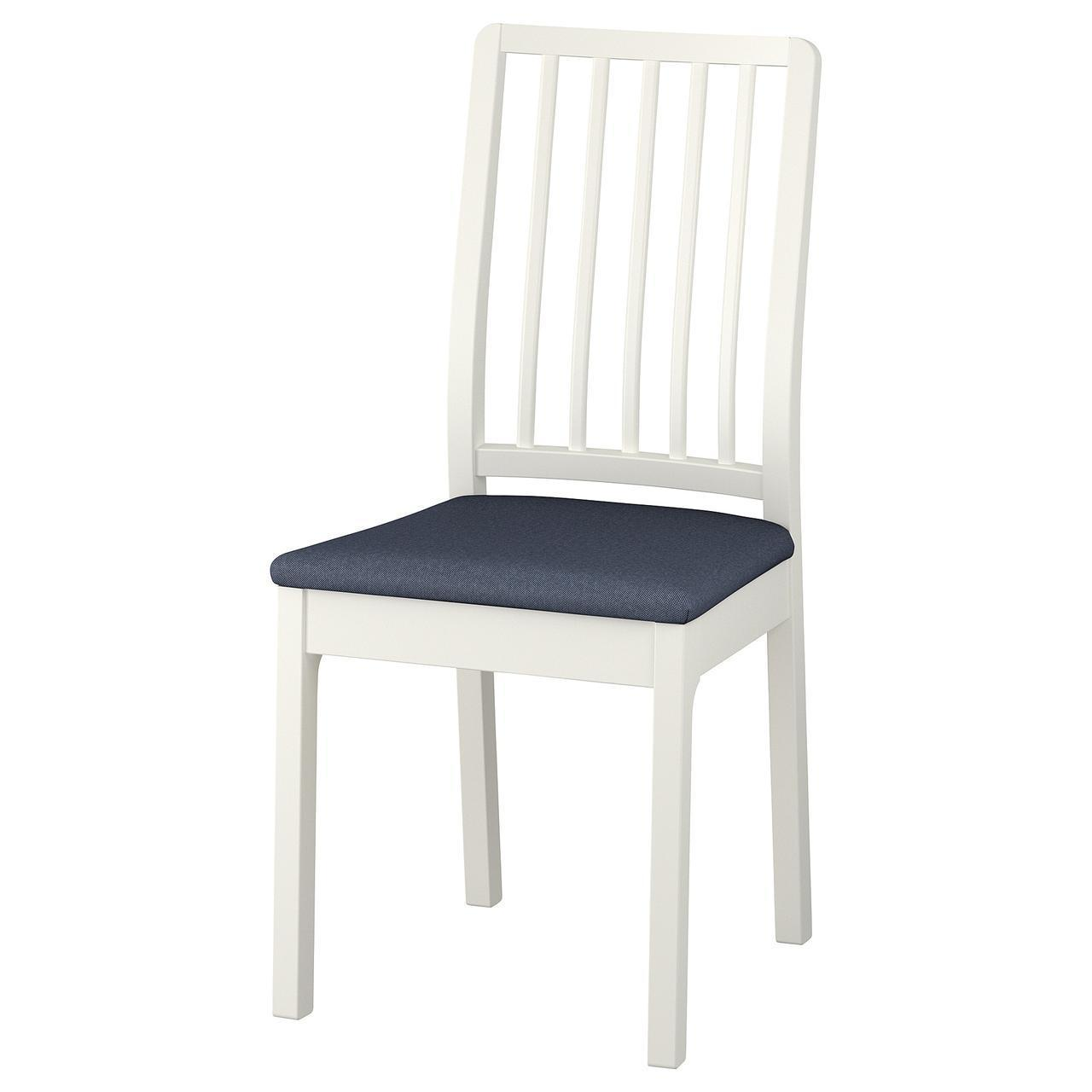 Кресло кухонное IKEA EKEDALEN Orrsta белое темно-синее 892.652.47