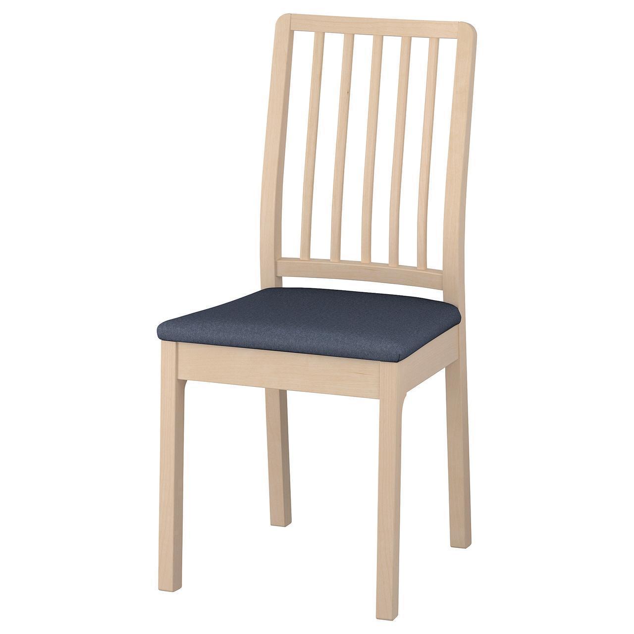 Кресло кухонное IKEA EKEDALEN Orrsta береза темно-синее 992.652.61