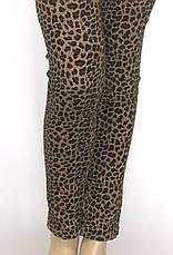 жіночі літні джинси з леопардовим принтом, фото 2