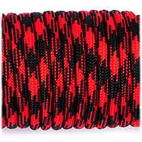 Паракорд Aramitex 550 4 мм 259 кг garfield #126 червоно - чорний 10 метрів