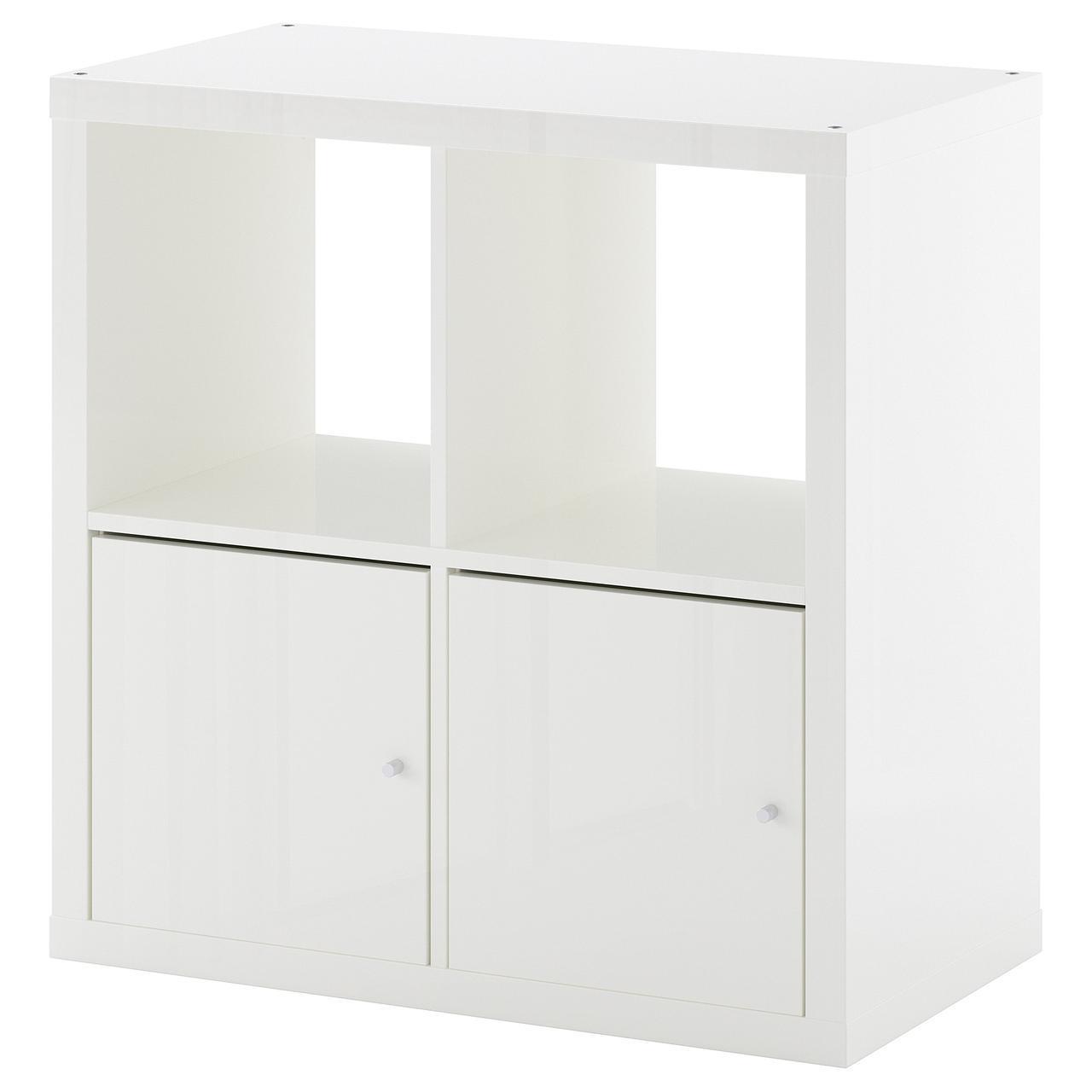 Стеллаж IKEA KALLAX 77x77 см белый глянцевый 892.782.78