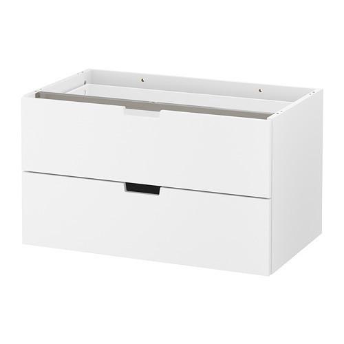 Комод с 2 ящиками IKEA NORDLI 80x45 см модульный белый 103.834.61