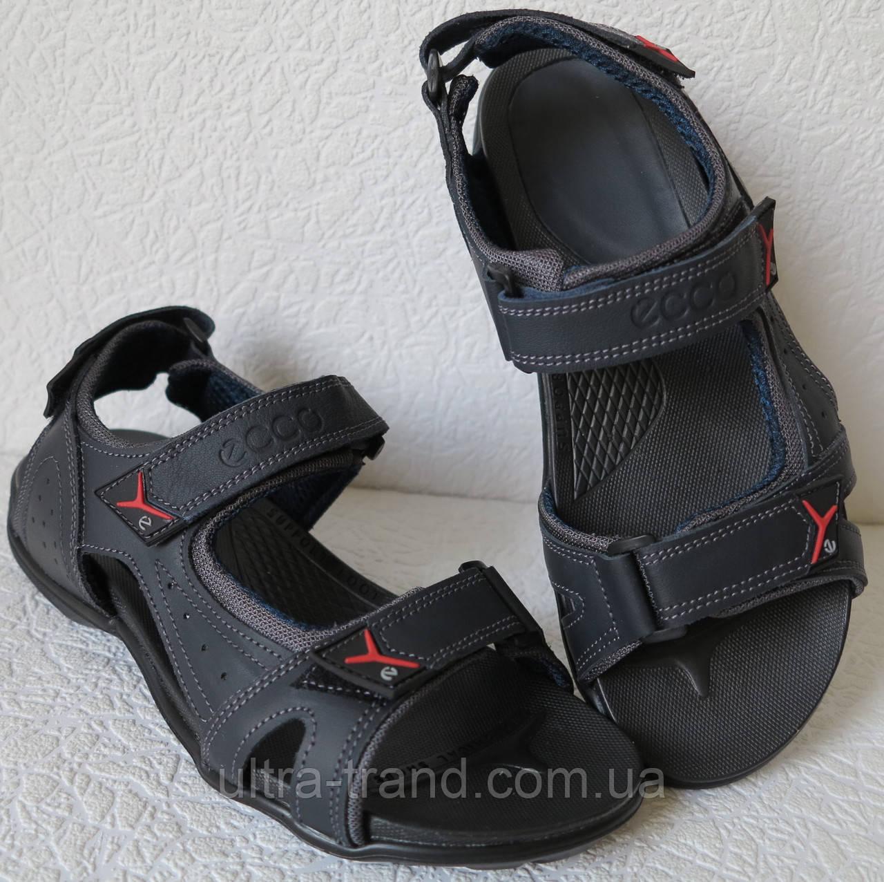 bac4632ccbd0f2 Ессо biom! Мужские сандалии синяя кожа качественная реплика босоножки Экко  биом - Интернет магазин Ultra