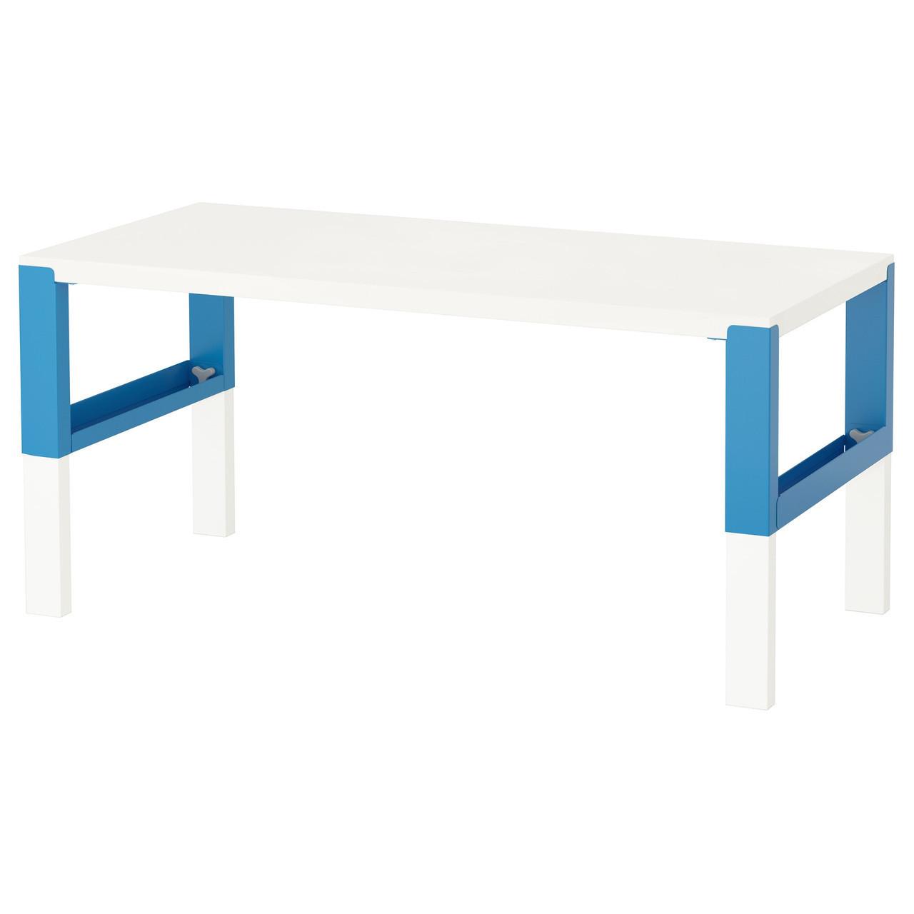 PÅHL Biurko, biały, niebieski 091.289.47