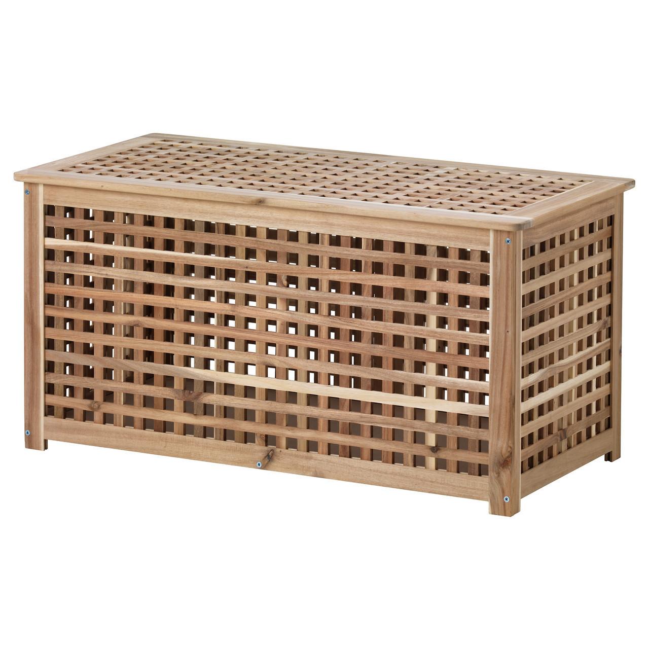 Журнальный столик IKEA HOL с местом для хранения акация 501.613.21