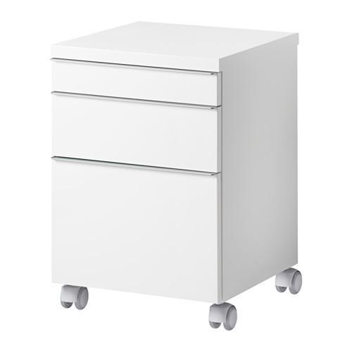 Тумба с ящиками на колесах, глянцевый белый, 40x40 см IKEA BESTÅ BURS 402.840.30