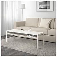 Кофейный столик с двусторонней столешницей IKEA NYBODA 120x40x40 см белый серый 003.426.40