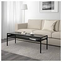 Кофейный столик с двусторонней столешницей IKEA NYBODA 120x40x40 см черный бежевый 303.426.48
