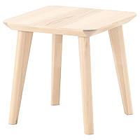 Журнальный столик IKEA LISABO придиванный ясеневый шпон 102.976.56