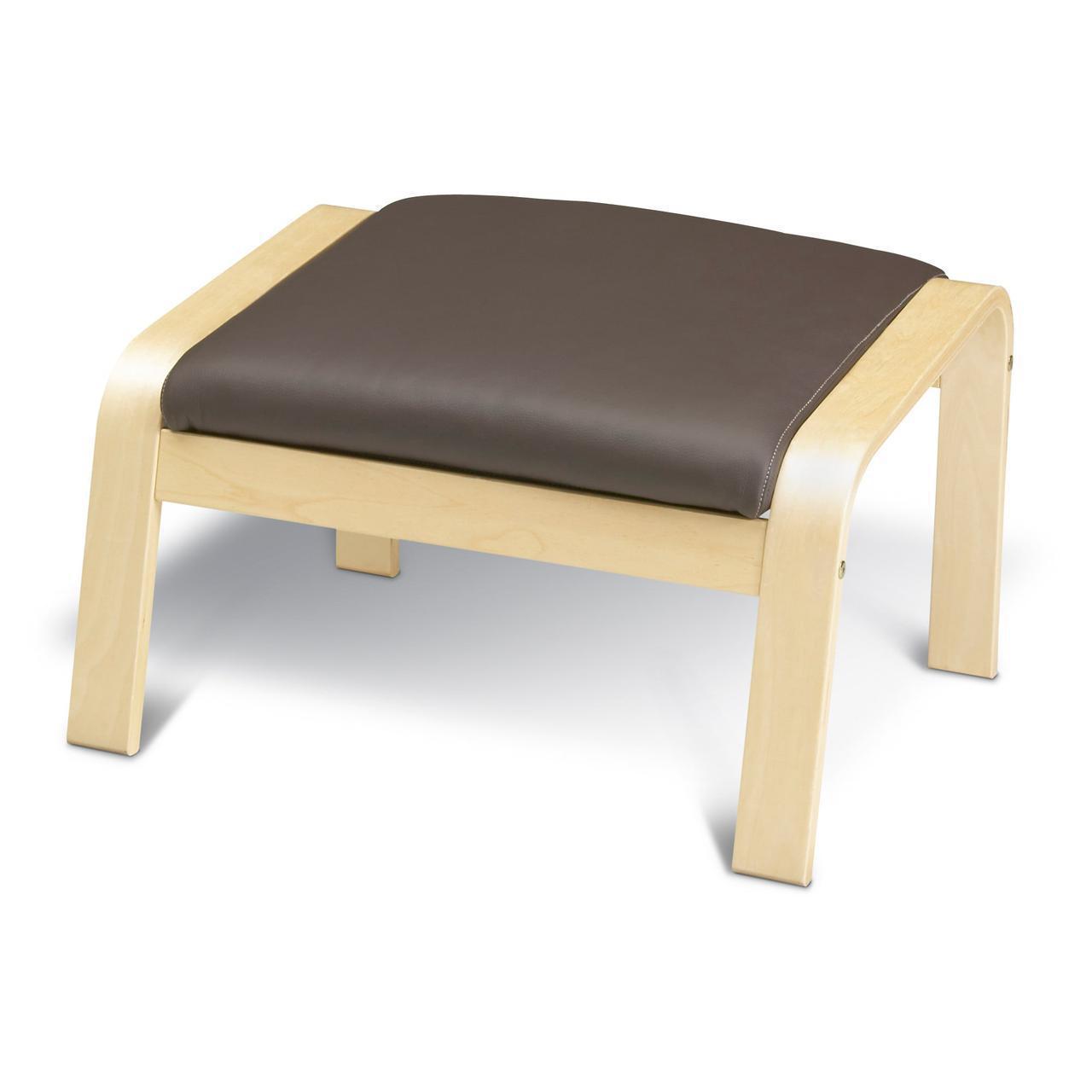 Подставка для ног IKEA POÄNG Robust Glose березовый шпон темно-коричневая 598.291.11