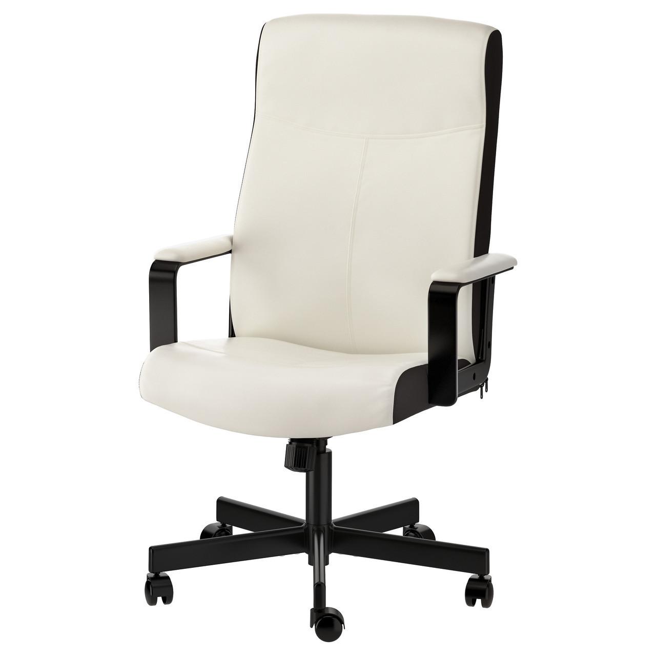 Кресло IKEA MILLBERGET вращающееся Kimstad белый 203.394.15