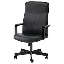 Кресло IKEA MILLBERGET Бумстад черный 903.394.12