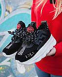 Женские кроссовки Versace Chain Reaction 2 Chainz Black, женские кроссовки Версачи, кроссовки версач, фото 4