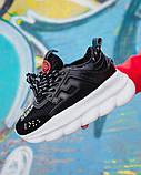 Женские кроссовки Versace Chain Reaction 2 Chainz Black, женские кроссовки Версачи, кроссовки версач, фото 3