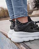 Женские кроссовки Versace Chain Reaction 2 Chainz Black, женские кроссовки Версачи, кроссовки версач, фото 6