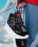 Женские кроссовки Versace Chain Reaction 2 Chainz Black, женские кроссовки Версачи, кроссовки версач, фото 5