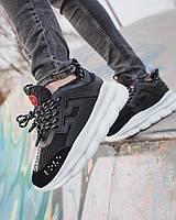 Мужские кроссовки Versace Chain Reaction 2 Chainz Black, мужские кроссовки Версачи, кроссовки версач