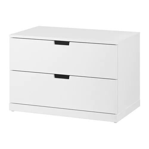 Комод с 2 ящиками IKEA NORDLI 80x54 см белый 992.394.94