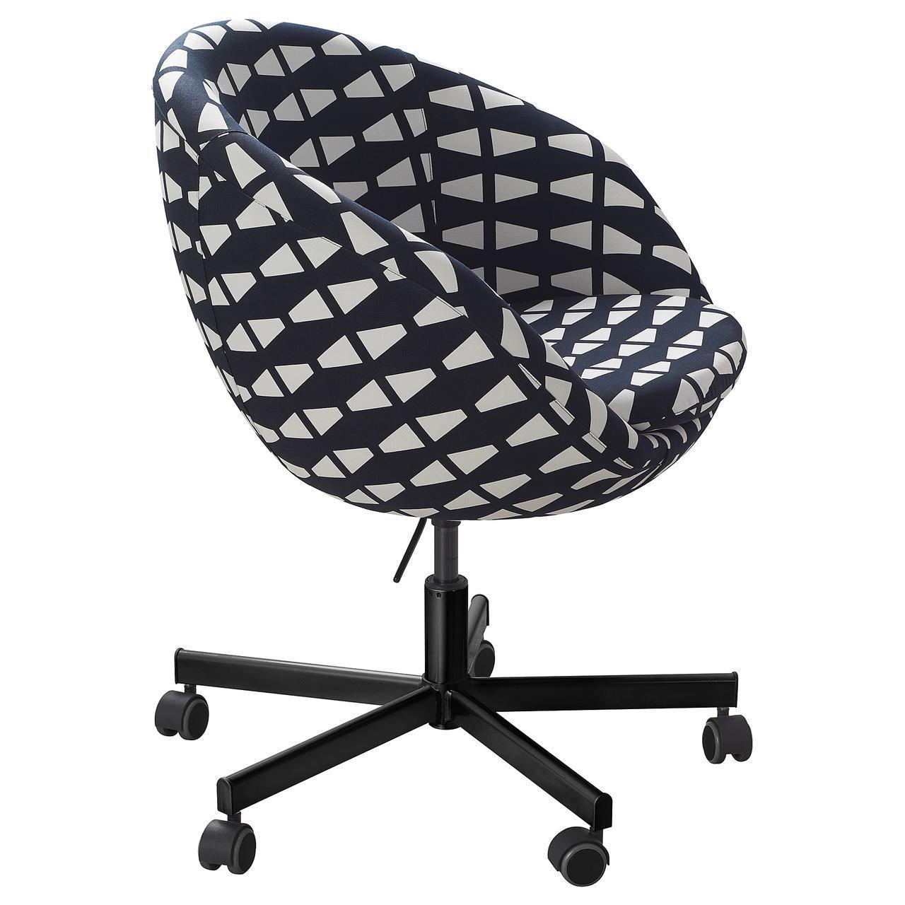 Кресло IKEA SKRUVSTA Ebbarp черное белое 104.356.67