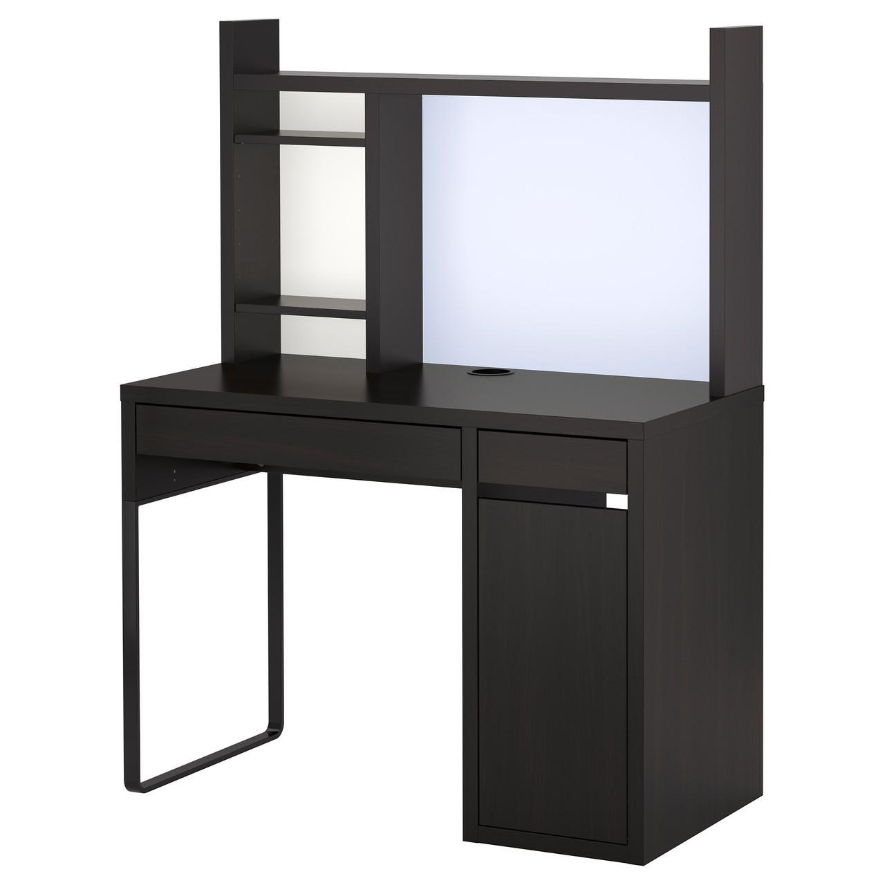 Компьютерный стол IKEA MICKE 105x50 см черно-коричневый 499.267.49