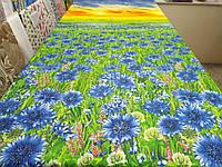 Ткань для пошива постельного белья бязь премиум Васильки