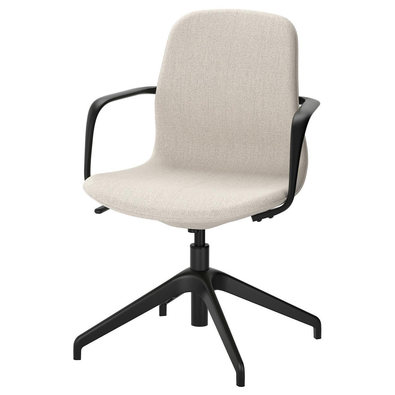 Комп'ютерне крісло IKEA LÅNGFJÄLL Gunnared бежеве чорне 691.759.69