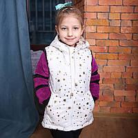 Осенне весенняя детская одежда, жилетка для девочки