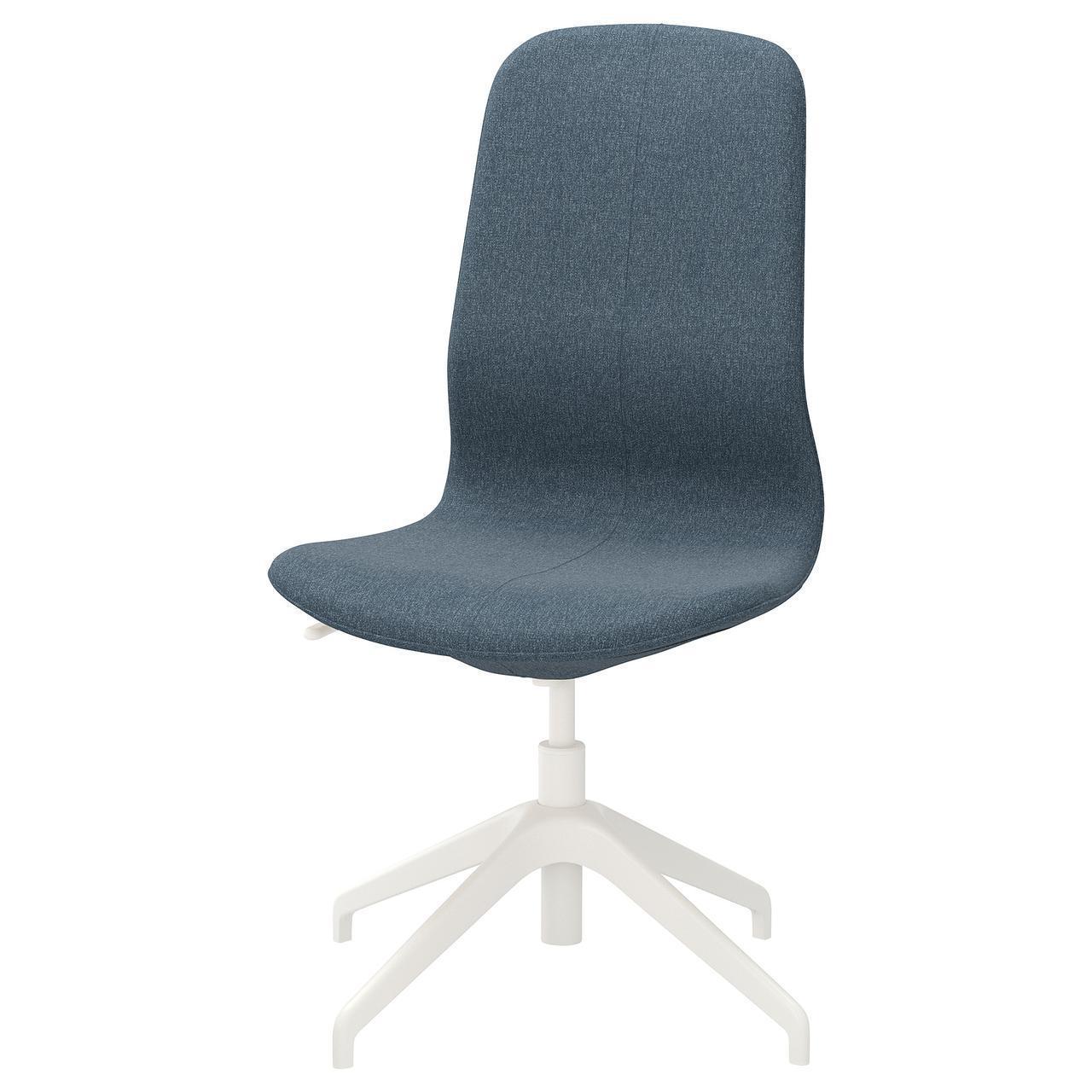 Комп'ютерне крісло IKEA LÅNGFJÄLL Gunnared блакитне біле 192.523.47