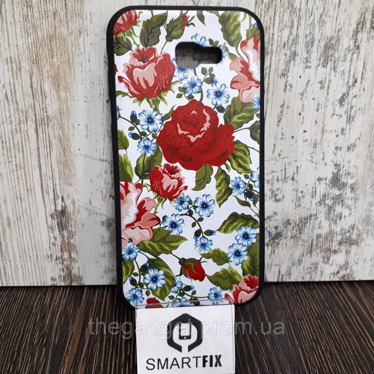 Чехол с рисунком для Samsung A7 2017 (A720) Цветы