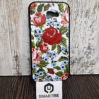 Чехол с рисунком для Samsung A7 2017 (A720) Цветы, фото 1