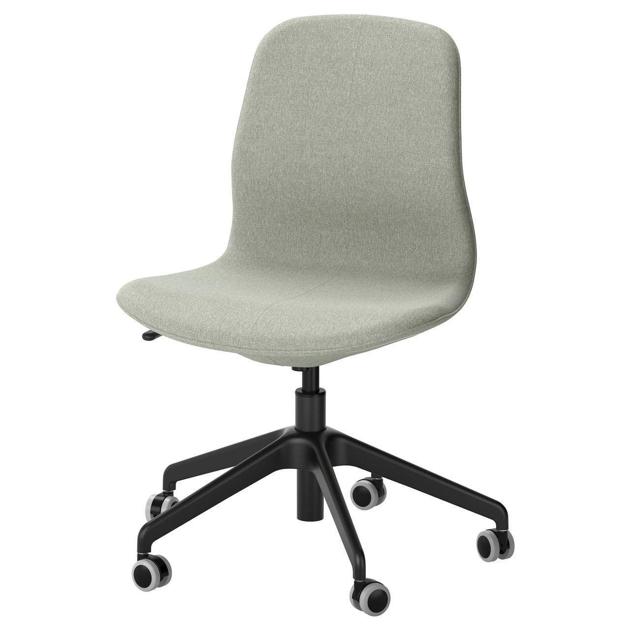 Компьютерное кресло IKEA LÅNGFJÄLL Gunnared светло-зеленое черное 091.775.89