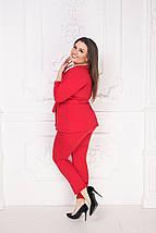 """Брючный женский костюм """"Angela"""" с блузой (большие размеры), фото 2"""