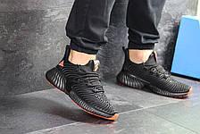 Мужские кроссовки Adidas Alphabounce Instinct,текстиль,черные с оранжевым, фото 3