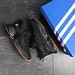 Мужские кроссовки Adidas Alphabounce Instinct,текстиль,черные с оранжевым, фото 2