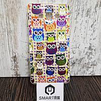 Чехол с рисунком для Samsung Galaxy A7 2015 (A700) Разноцветная сова