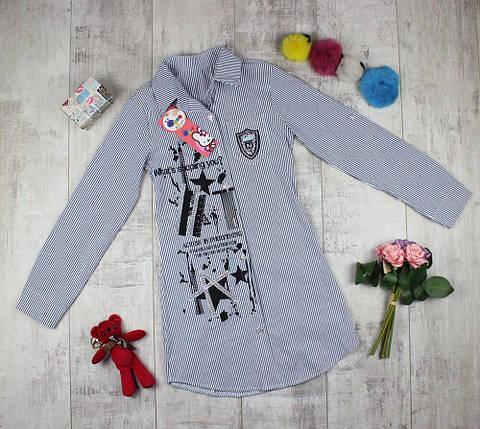 Рубашка детская удлиненная для девочки, фото 2