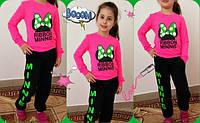 """Детский костюм спортивный """"RIBBOX MINNIE"""", с розовой кофтой. Арт-1523"""