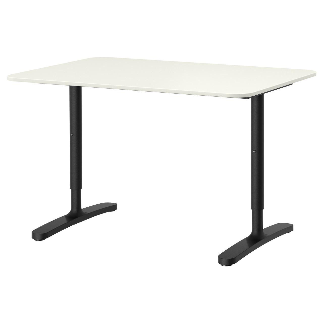 Письмовий стіл IKEA BEKANT 120x80 см білий чорний 590.063.21