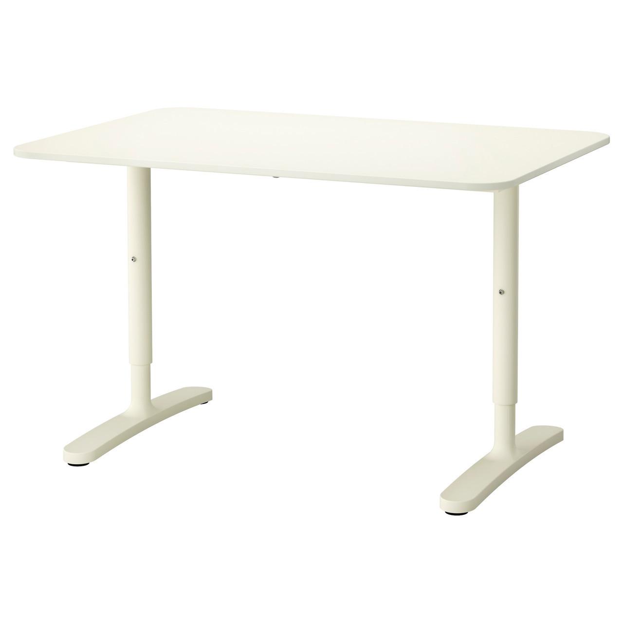 Письмовий стіл IKEA BEKANT 120x80 см білий 063.23 190.063.23