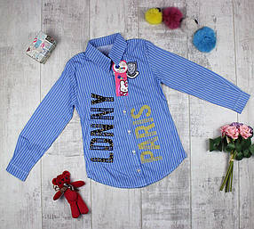 Рубашка детская удлиненная для девочки