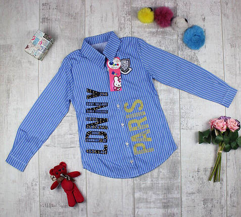 Сорочка дитяча подовжена для дівчинки, фото 2