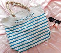 Сумка пляжная большая в полоску Miami Beach , фото 1